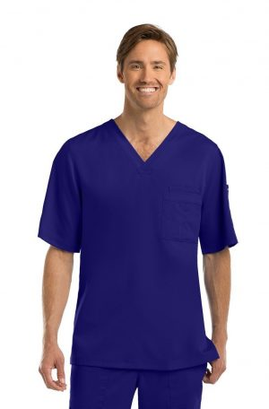 Grey's Anatomy Men's Scrub Top Purple Rain