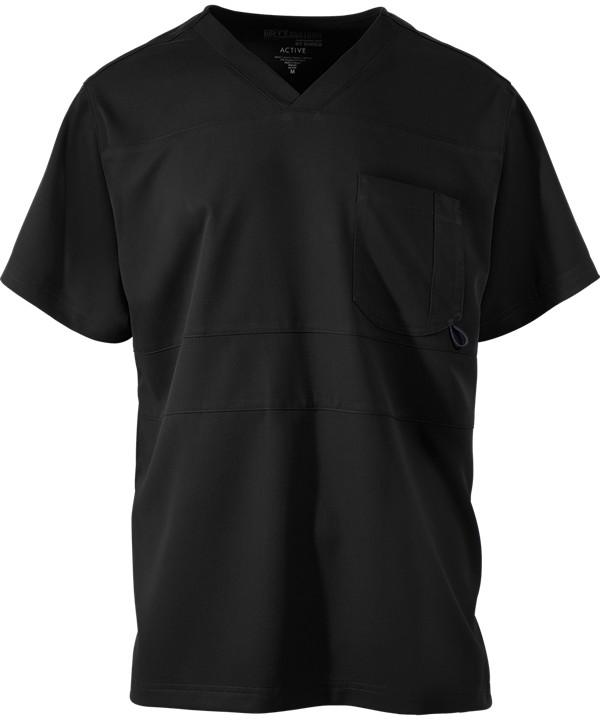 Grey's Anatomy Men's Active Scrub Top Black