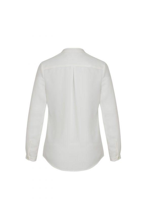 Juliette Women's Plain Sleeve Blouse Ivory Back View