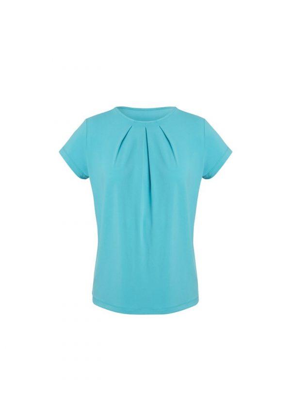 Women's Blaise Short-Sleeve Top Aqua