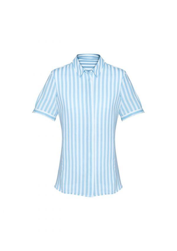 Verona Women's Short Sleeve Blouse Alaskan Blue