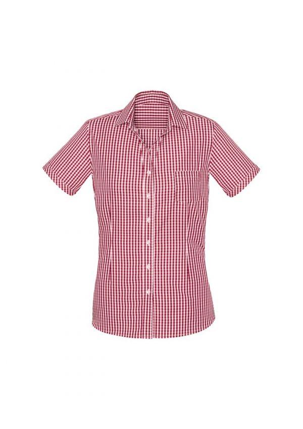 Springfield Women's Short Sleeve Shirt Cardinal Red