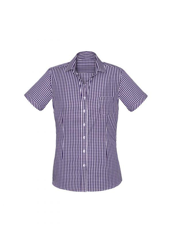 Springfield Women's Short Sleeve Shirt Purple Reign