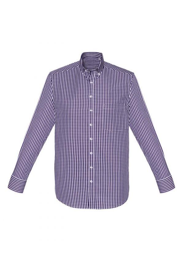 Springfield Men's Long Sleeve Shirt Purple Reign