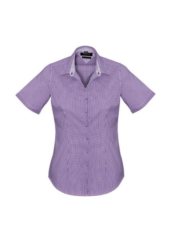 Newport Ladies Short Sleeve Shirt Purple Reign
