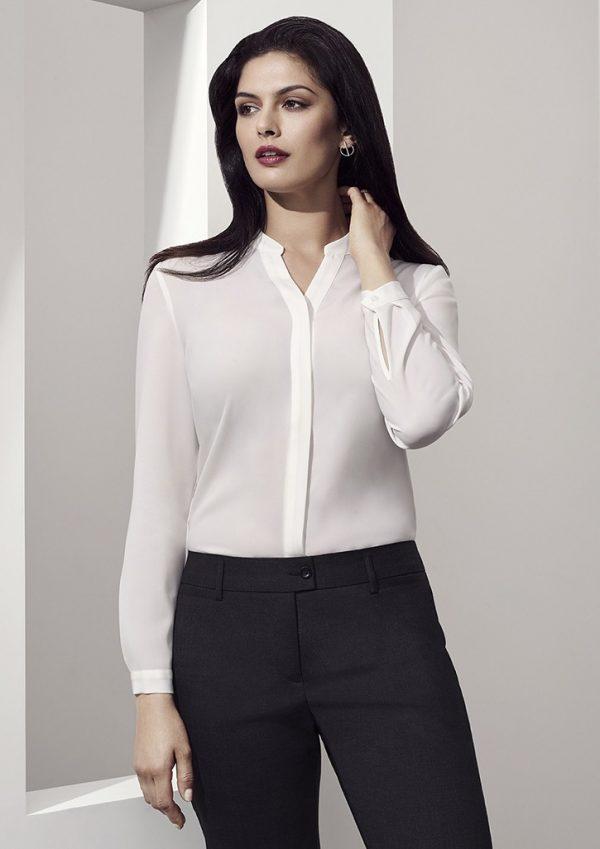 Juliette Women's Plain Sleeve Blouse Ivory