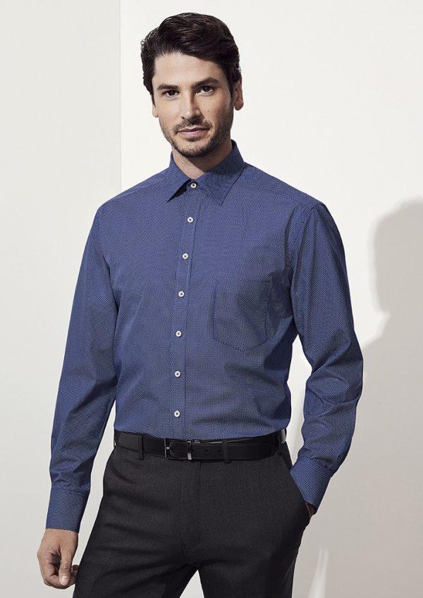 Oscar Men's Long Sleeve Shirt Marine
