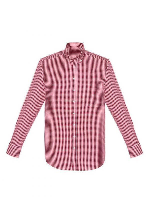 Springfield Men's Long Sleeve Shirt Cardinal Red