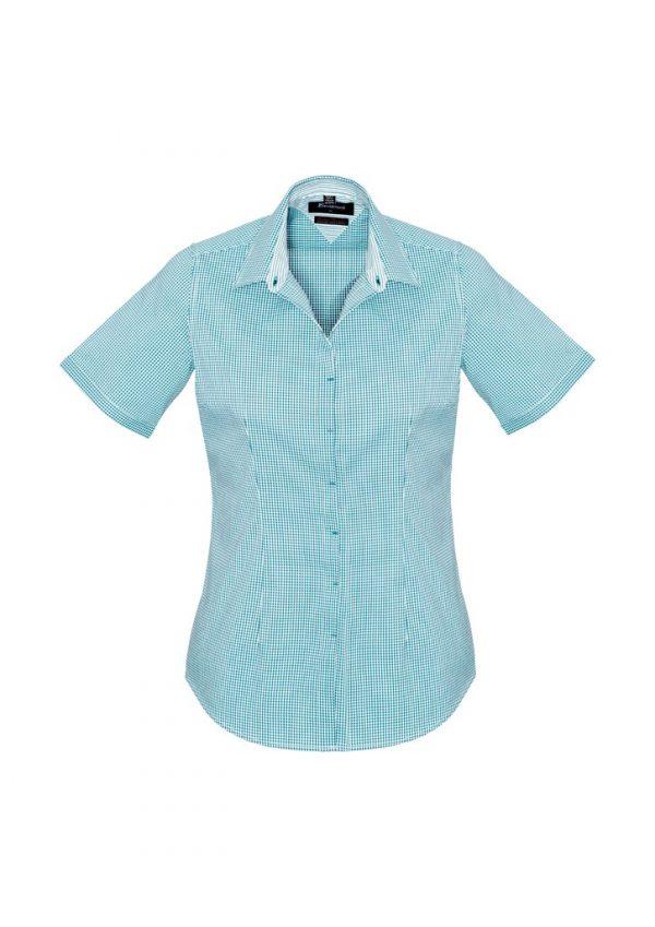 Newport Ladies Short Sleeve Shirt Eden Green