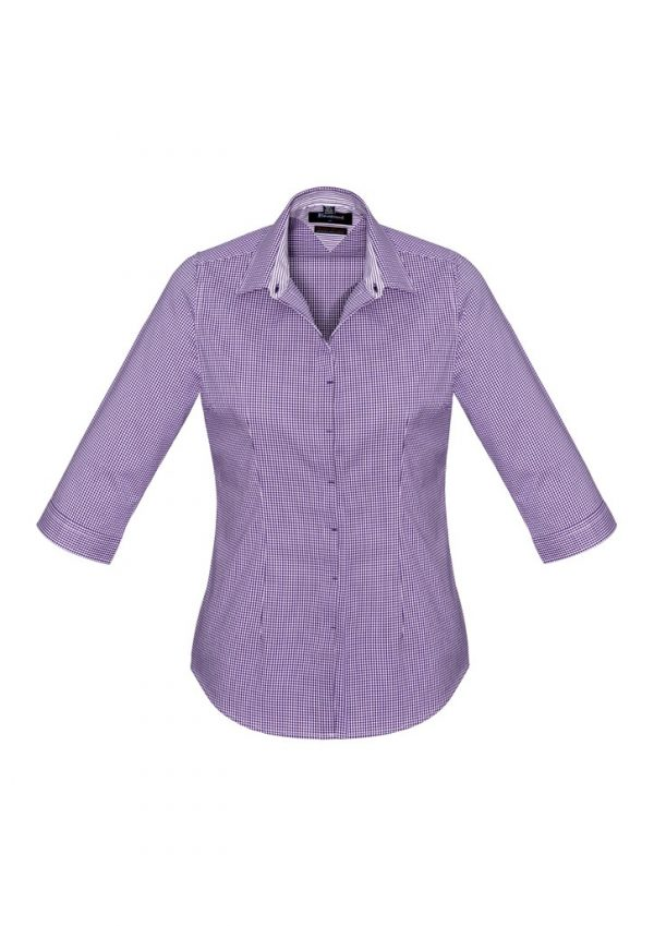 Newport Ladies 3/4 Sleeve Shirt Purple Reign