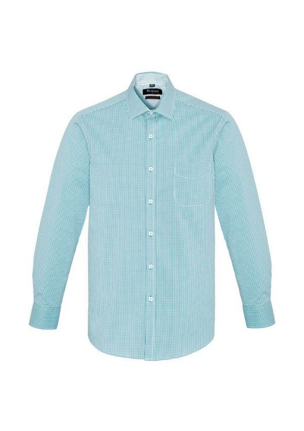 Newport Mens Long Sleeve Shirt Eden Green