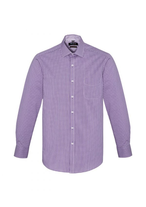 Newport Mens Long Sleeve Shirt Purple Reign