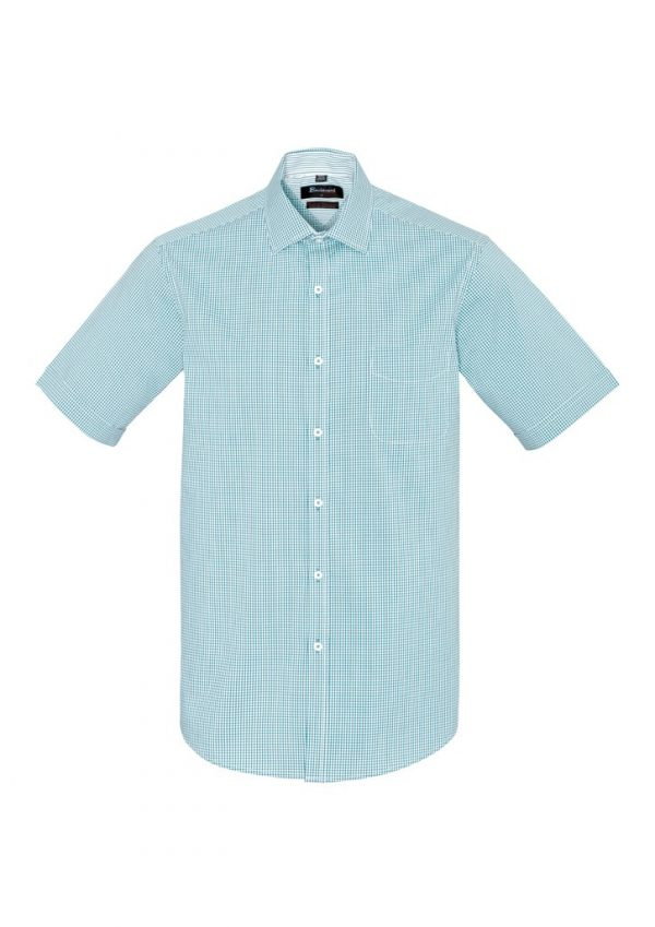 Newport Mens Short Sleeve Shirt Eden Green