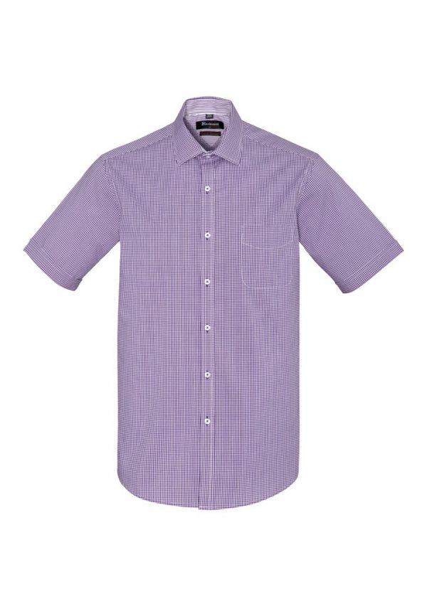 Newport Mens Short Sleeve Shirt Purple Reign