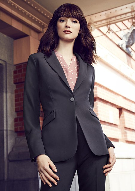 Sienna Suiting Women's One Button Longline Jacket