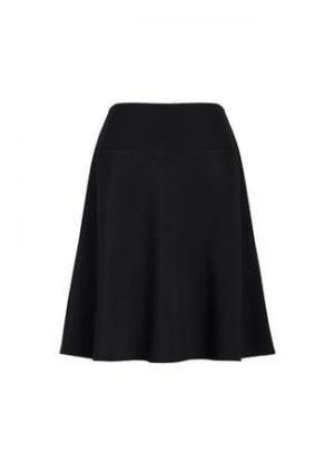 Women's Bandless Flared Skirt Black