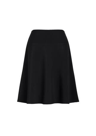 Women's Bandless Flared Skirt Black