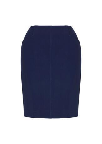Women's Bandless Pencil Skirt Marine