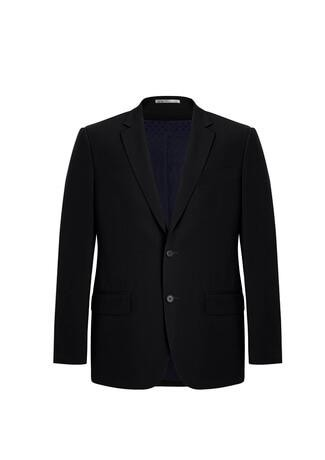 Men's City Fit 2 Button Jacket Black