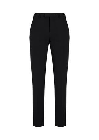 Men's Slim Fit Front Pant Black