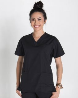Mediscrubs 3 Pocket Top Black