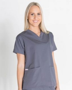 Mediscrubs 3 Pocket Top Grey