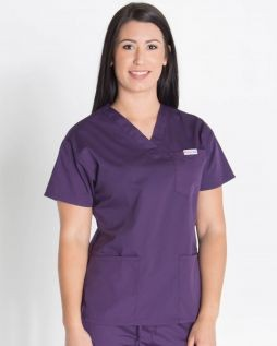 Mediscrubs 4 Pocket Top Aubergine