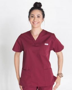 Mediscrubs 4 Pocket Top Burgundy