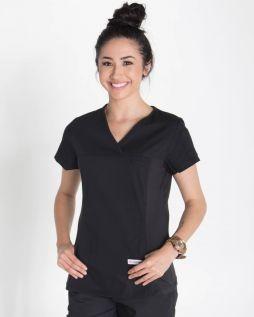 Mediscrubs Women's Fit Solid Colour Black