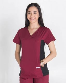 Mediscrubs Women's Fit with Spandex Burgundy