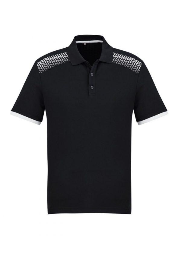 Men's Galaxy Polo Black/ White