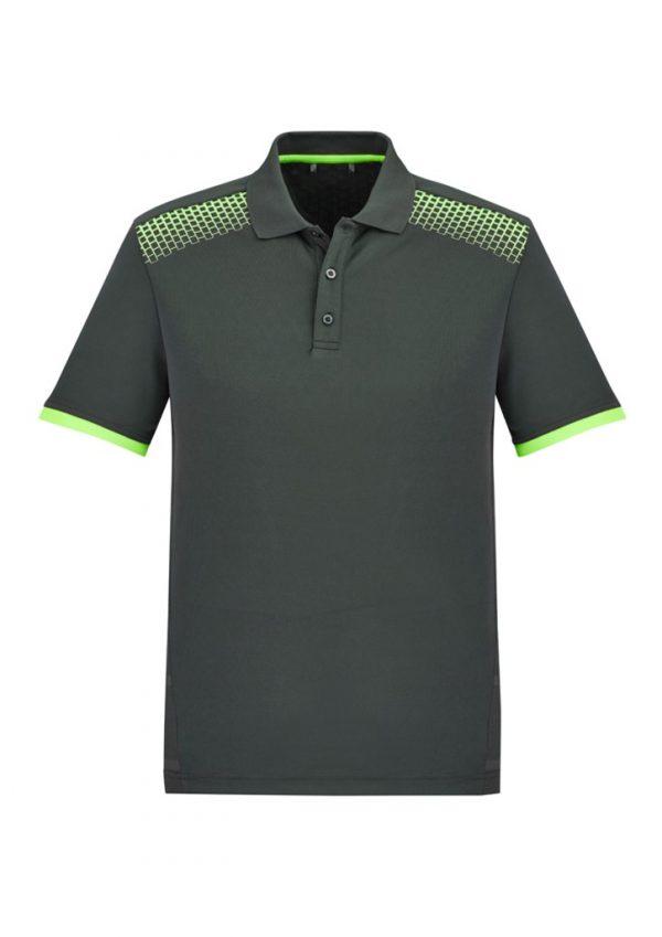 Men's Galaxy Polo Grey/ Fluoro Lime