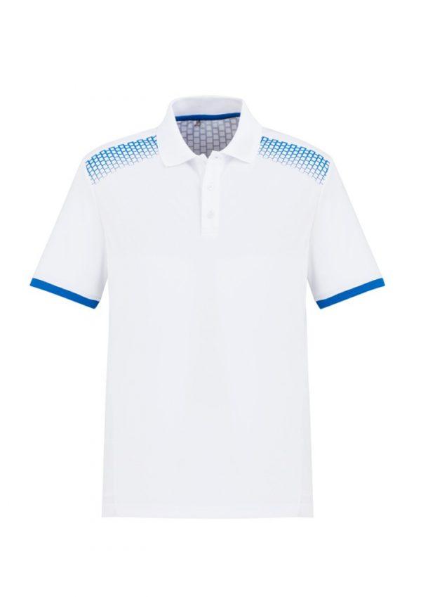Men's Galaxy Polo White/ Royal