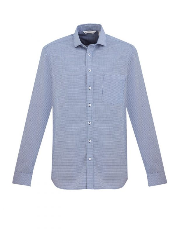 Jagger Shirt Men's Long Sleeve French Blue