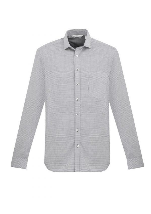 Jagger Shirt Men's Long Sleeve Silver