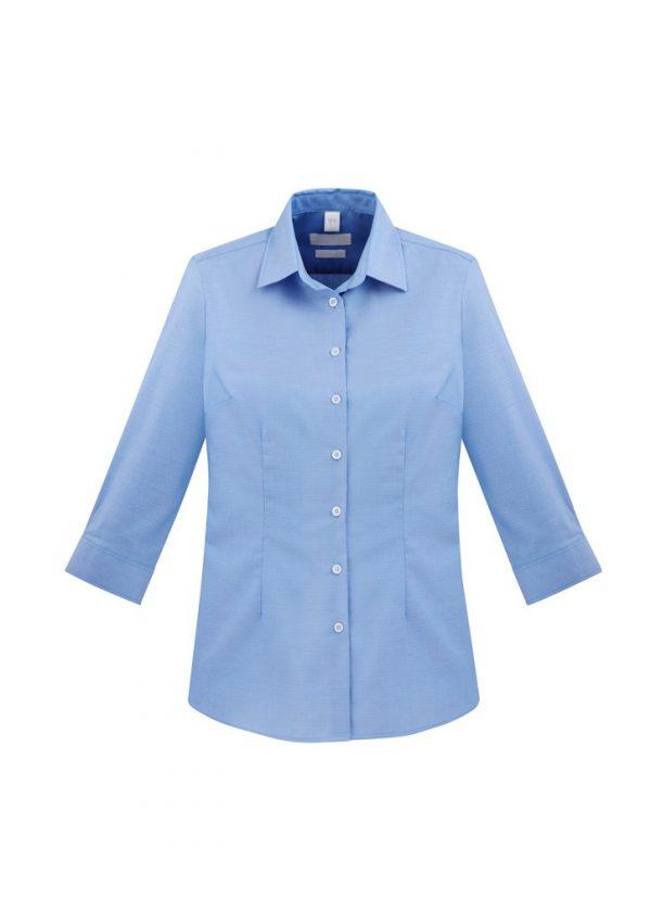 Regent Shirt Ladies 3/4 Sleeve Blue