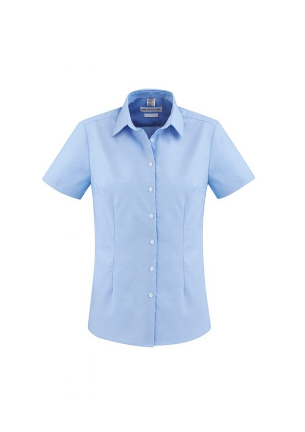 Regent Shirt Ladies Short Sleeve Blue