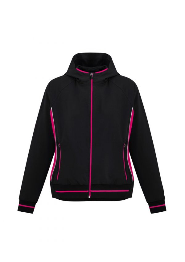Ladies Titan Team Jacket Black/ Magenta
