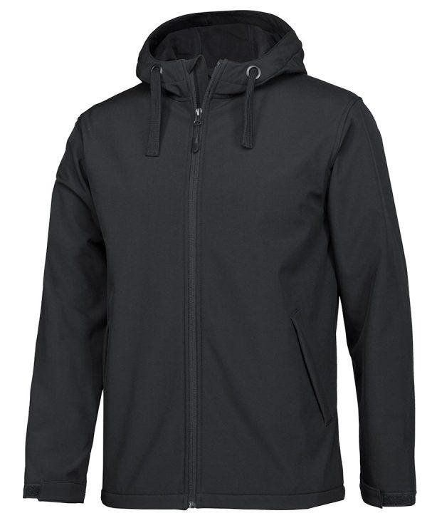 Podium Water Resistant Hooded Softshell Jacket Black