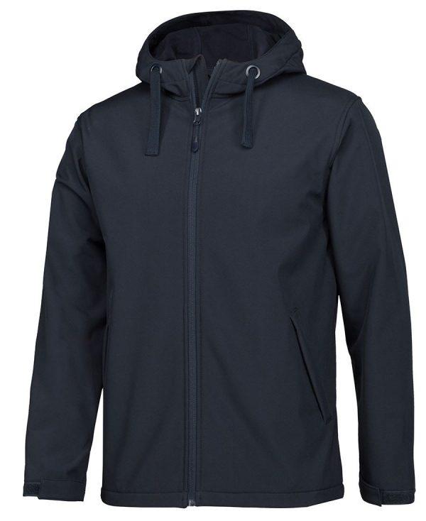 Podium Water Resistant Hooded Softshell Jacket Navy