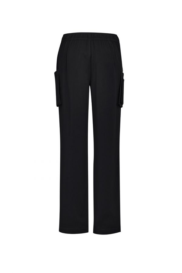 Women's Straight Leg Roll Up Scrub Pant Black