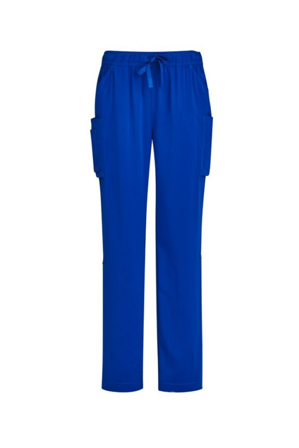 Women's Straight Leg Roll Up Scrub Pant Electric Blue