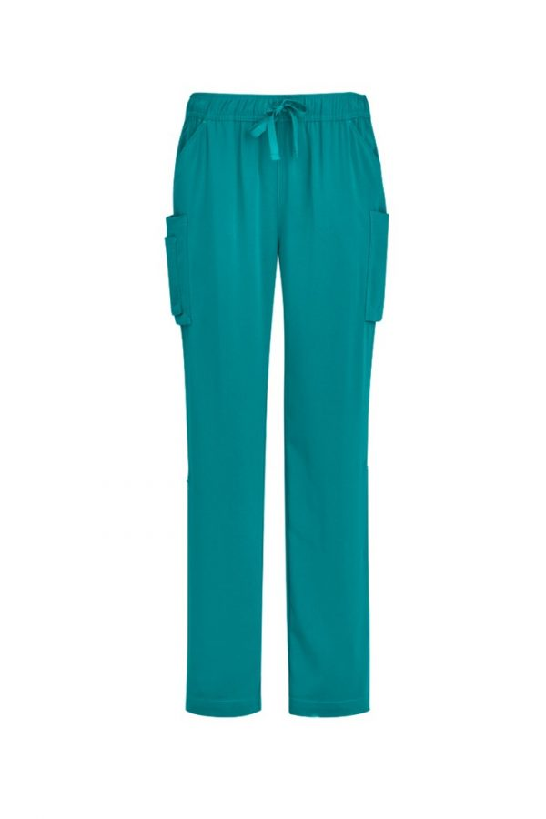Women's Straight Leg Roll Up Scrub Pant Teal