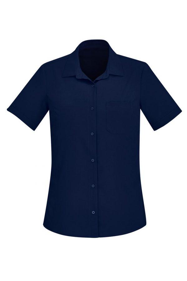 Women's Easy Stretch Short Sleeve Shirt Navy