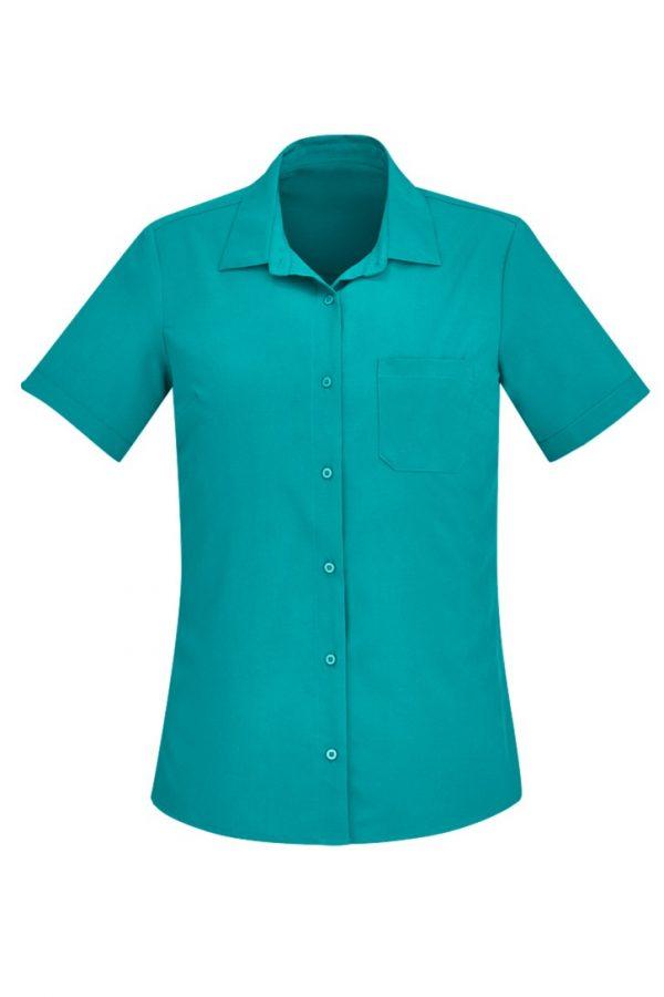 Women's Easy Stretch Short Sleeve Shirt Teal