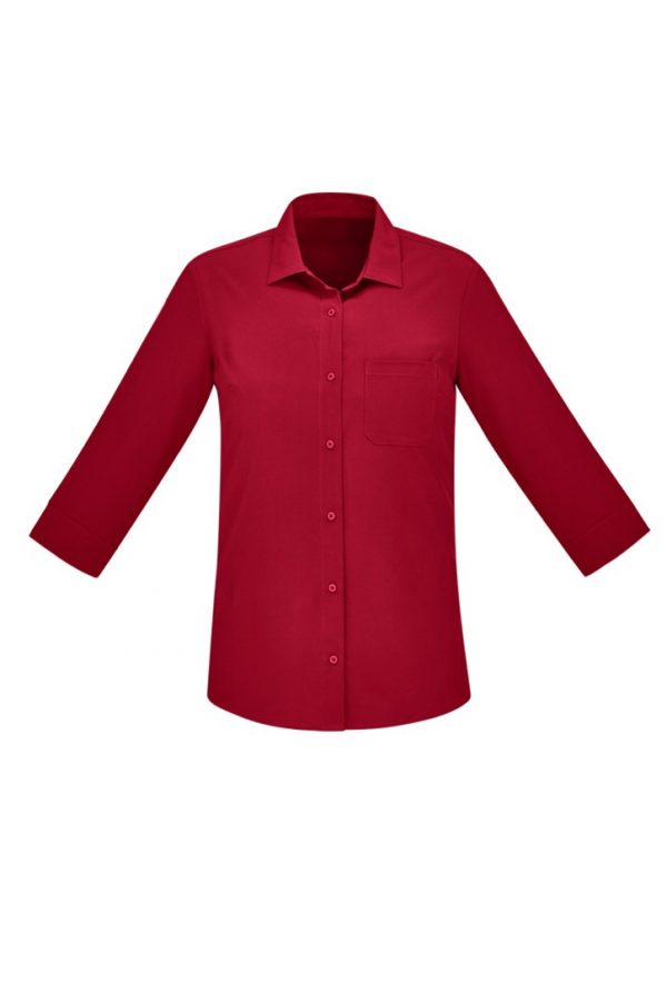Women's Easy Stretch 3/4 Sleeve Shirt Cherry
