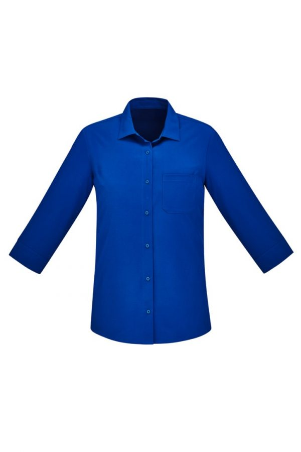 Women's Easy Stretch 3/4 Sleeve Shirt Electric Blue