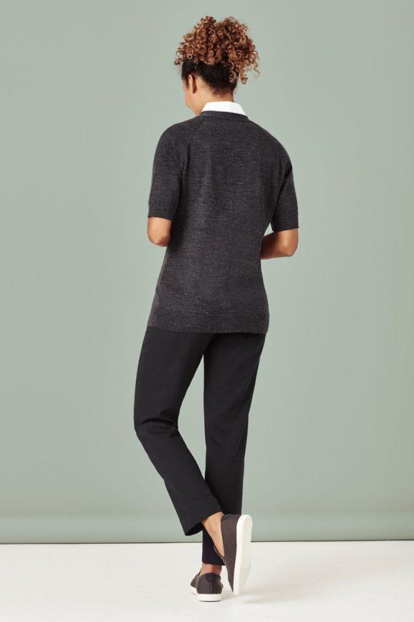 Women's Zip Front Short Sleeve Knit