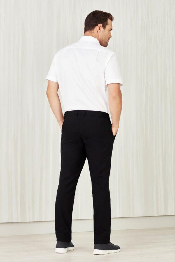 Men's Flat Front Pant Black