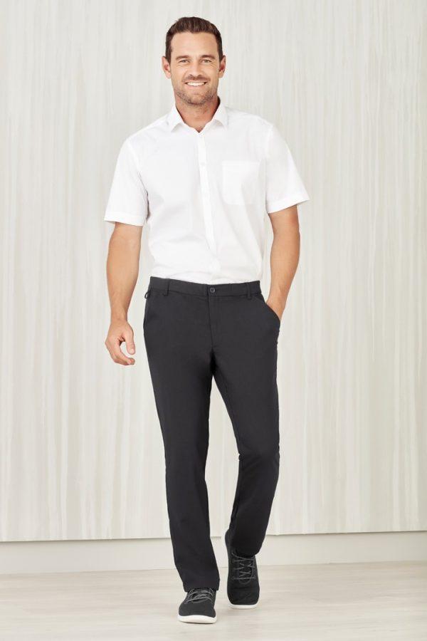 Men's Flat Front Pant Charcoal